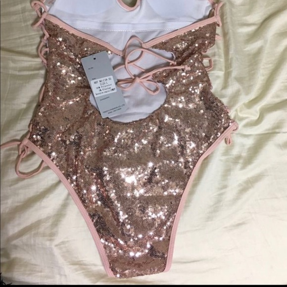 4a855d4c8c Rose gold sequin bathing suit. M_5b2ac474a31c333d4dbad7cb